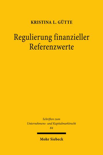 Regulierung finanzieller Referenzwerte
