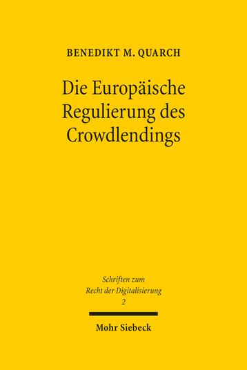 Die Europäische Regulierung des Crowdlendings