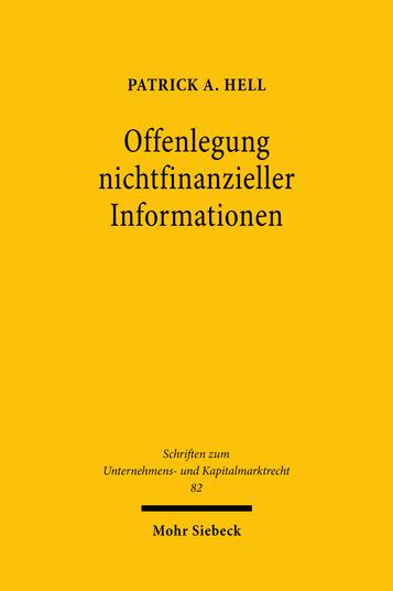 Offenlegung nichtfinanzieller Informationen