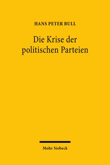 Die Krise der politischen Parteien