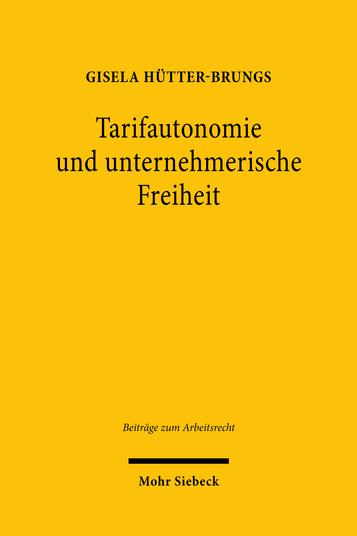 Tarifautonomie und unternehmerische Freiheit