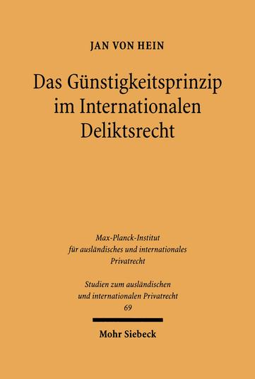 Das Günstigkeitsprinzip im Internationalen Deliktsrecht