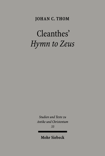 Cleanthes' Hymn to Zeus