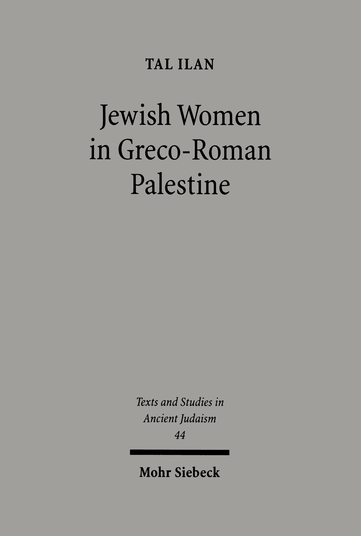 Jewish Women in Greco-Roman Palestine