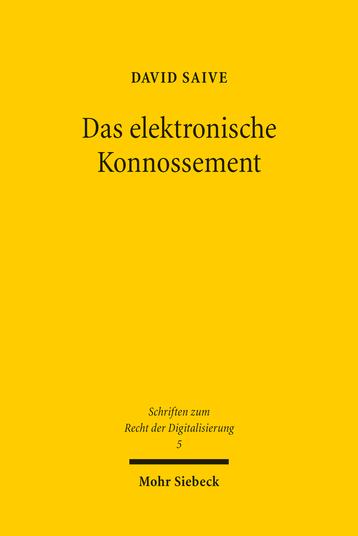 Das elektronische Konnossement