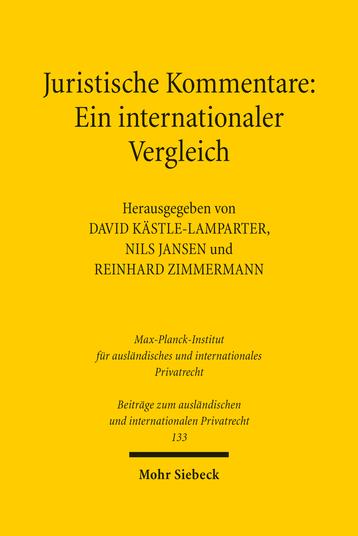 Juristische Kommentare: Ein internationaler Vergleich