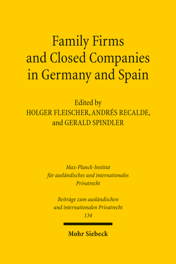 Family Firms and Closed Companies in Germany and Spain