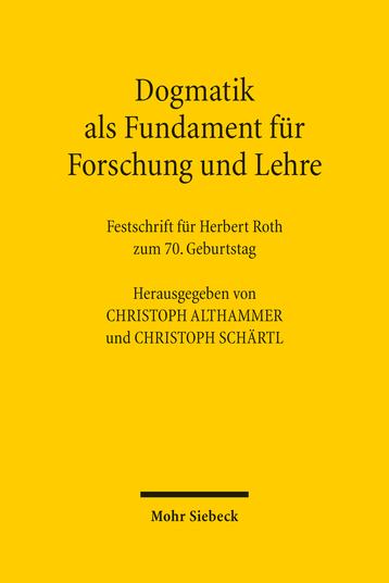 Dogmatik als Fundament für Forschung und Lehre