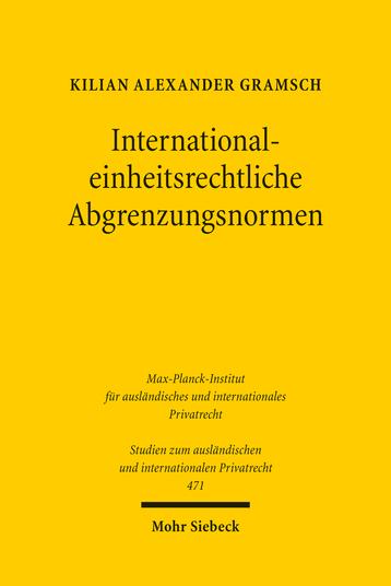 International-einheitsrechtliche Abgrenzungsnormen