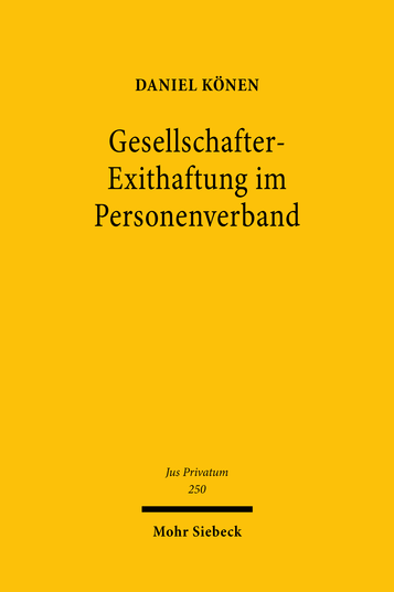 Gesellschafter-Exithaftung im Personenverband