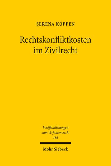 Rechtskonfliktkosten im Zivilrecht