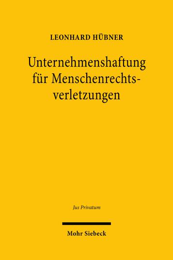 Unternehmenshaftung für Menschenrechtsverletzungen