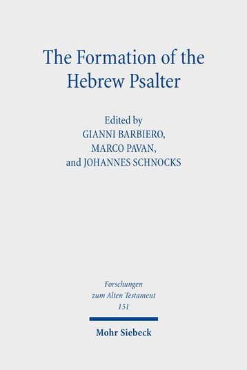 The Formation of the Hebrew Psalter