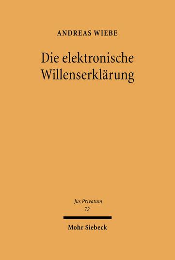 Die elektronische Willenserklärung