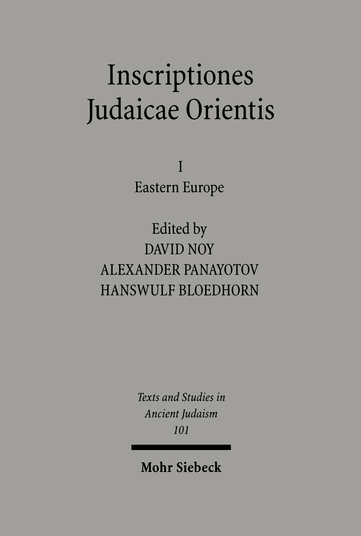 Inscriptiones Judaicae Orientis