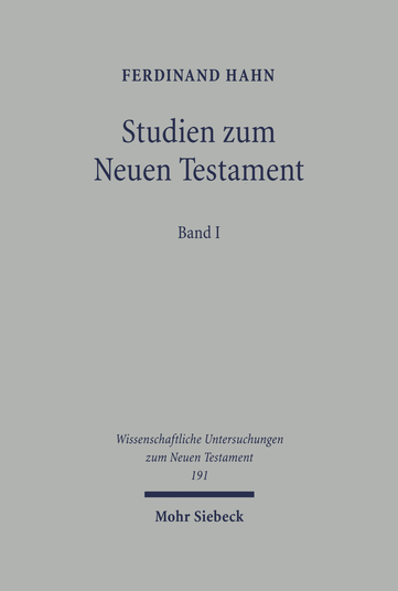 Studien zum Neuen Testament
