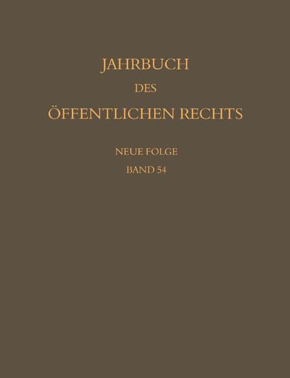 Jahrbuch des öffentlichen Rechts der Gegenwart. Neue Folge