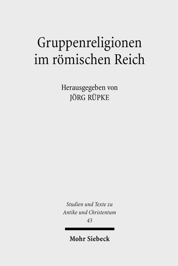 Gruppenreligionen im römischen Reich