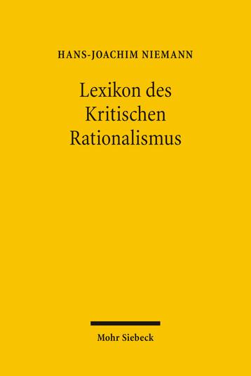 Lexikon des Kritischen Rationalismus