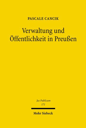 Verwaltung und Öffentlichkeit in Preußen