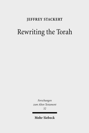 Rewriting the Torah