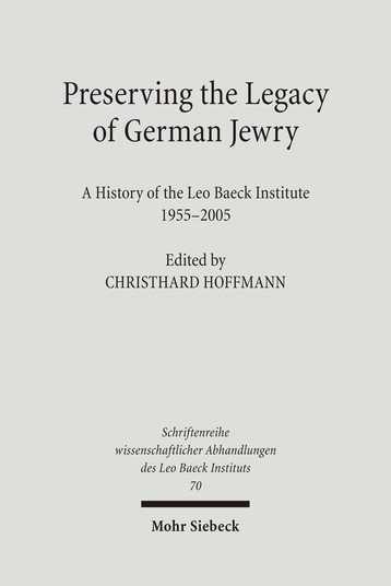 Preserving the Legacy of German Jewry