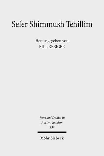 Sefer Shimmush Tehillim – Buch vom magischen Gebrauch der Psalmen