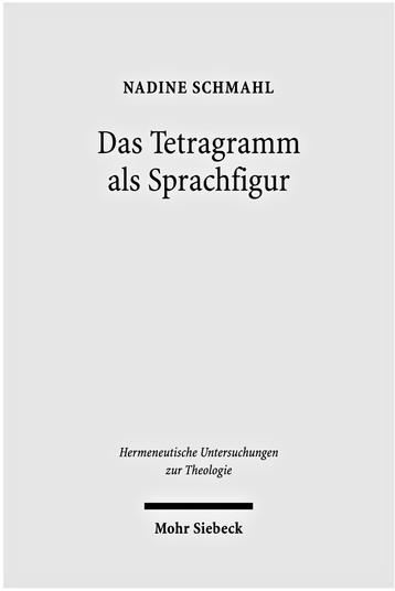 Das Tetragramm als Sprachfigur