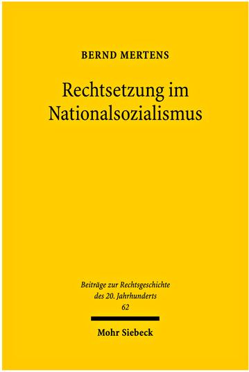 Rechtsetzung im Nationalsozialismus