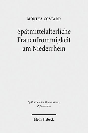 Spätmittelalterliche Frauenfrömmigkeit am Niederrhein