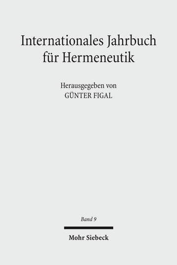 Internationales Jahrbuch für Hermeneutik