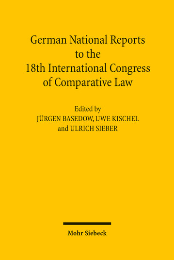 German National Reports to the 18th International Congress of Comparative Law