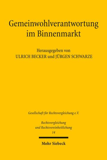 Gemeinwohlverantwortung im Binnenmarkt