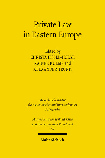 Private Law in Eastern Europe