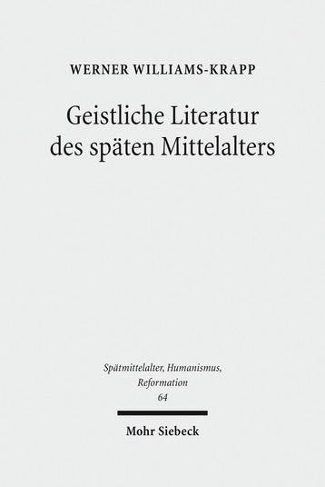 Geistliche Literatur des späten Mittelalters