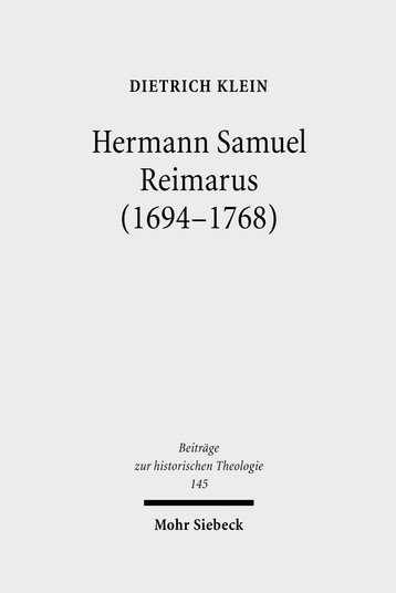 Hermann Samuel Reimarus (1694–1768)