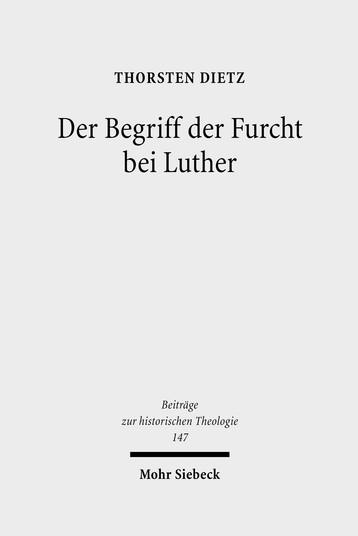 Der Begriff der Furcht bei Luther