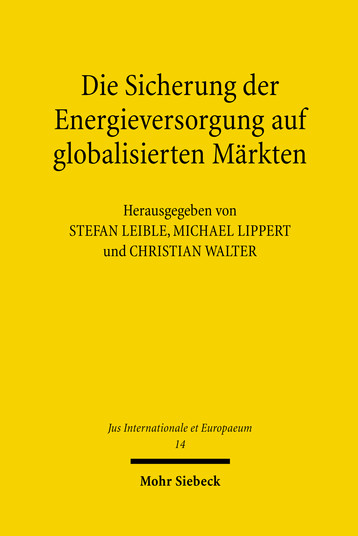 Die Sicherung der Energieversorgung auf globalisierten Märkten