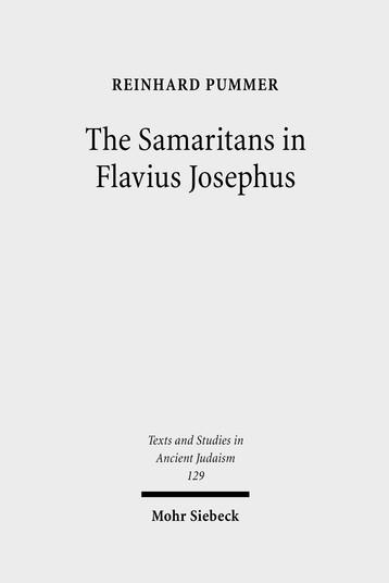 The Samaritans in Flavius Josephus