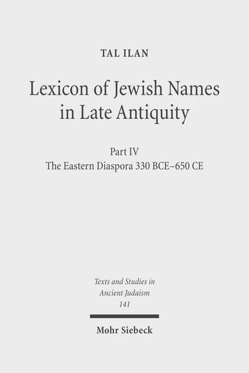 Lexicon of Jewish Names in Late Antiquity