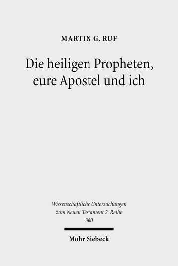 Die heiligen Propheten, eure Apostel und ich