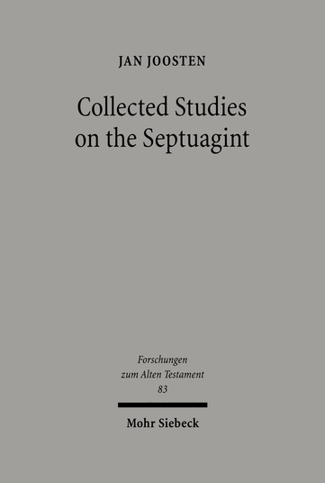 Collected Studies on the Septuagint
