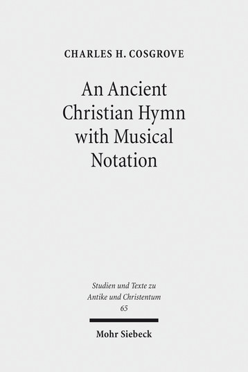An Ancient Christian Hymn with Musical Notation