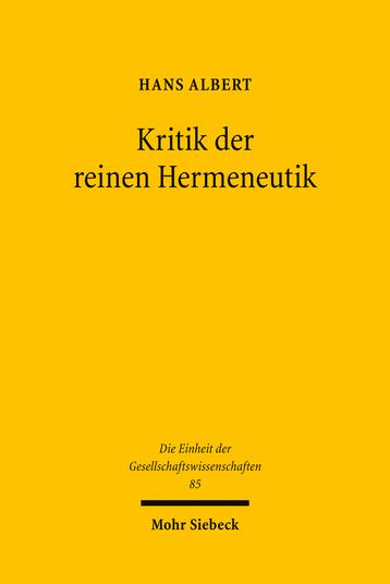Kritik der reinen Hermeneutik