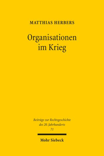Organisationen im Krieg