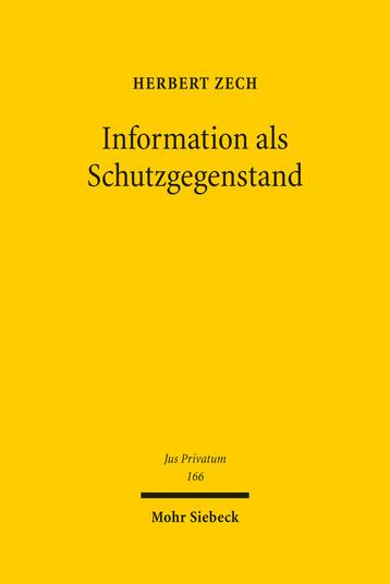 Information als Schutzgegenstand