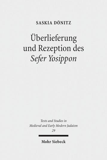 Überlieferung und Rezeption des Sefer Yosippon