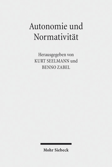 Autonomie und Normativität