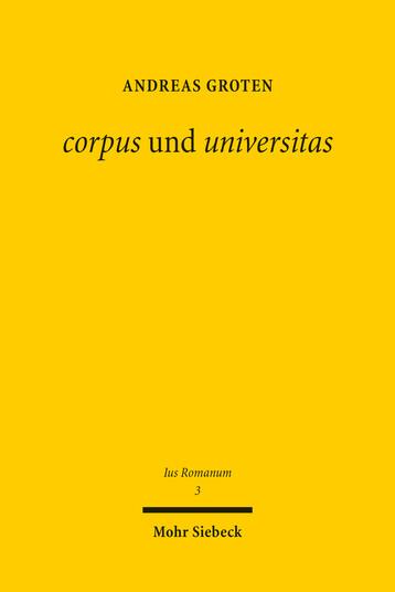corpus und universitas