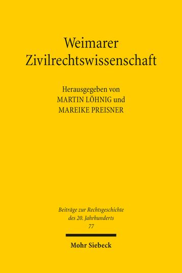 Weimarer Zivilrechtswissenschaft